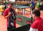 Martin Linert koučuje Davida Průšu (SJM) v soutěži dvouher ml. žáků