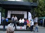 Ceny při vyhlášení čtyřher v Uherském Hradišti předávali Filip Šuman a Květa Jeriová-Pecková